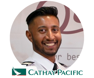 Quality Fly Graduate flying for Cathay Pacific