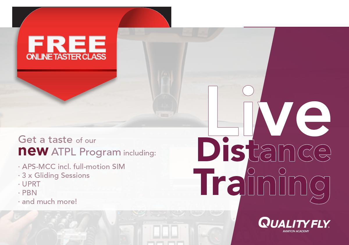 ATPL Live Distance Online Taster Class Banner